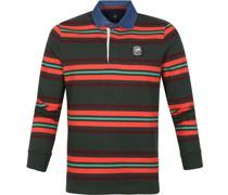 (NZA) Langarm Poloshirt Tinline Dunkelgrün