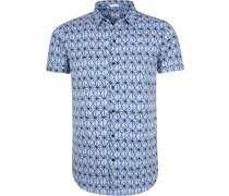 Hemd Blau Drucken