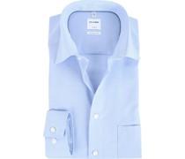 Luxor Comfort Fit Hemd Blau Karo