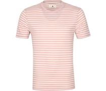 T-shirt Akrod Streifen Rosa