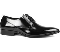 Schwarze Schnürschuhe Lackleder