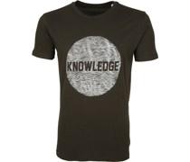 Knowledge Cotton Apparel T-shirt Alder Dunkelgrün