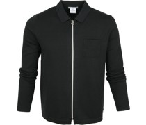Zipper Cardigan Polo Dunkelgrün