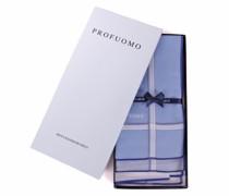Taschentücher Set 3 Stück Blau Weiß