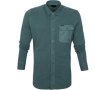 Hemd Garment Dye Dark Green