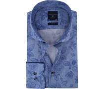 Hemd SF Blau Blumen