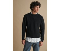 100% Recycled Textured Knit Crew Neck Jumper