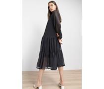 Tiered Chiffon Midi Dress