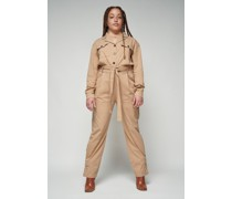 100% Organic Belted Cargo Jumpsuit