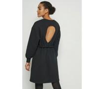100% Recycled Open Back Sweatshirt Dress