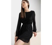 Belted Chiffon Mini Dress