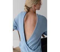 Open Back Wrap Sweater
