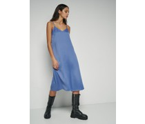 100% Recycled Satin Slip Midi Dress