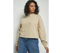 High Neck Cropped Sweatshirt