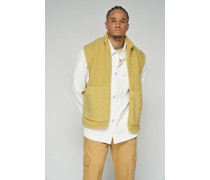 100% Recycled Zip Up Teddy Gilet