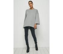 100% Organic Oversized Half Sleeve Unisex Sweatshirt