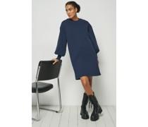 100% Recycled Puff Sleeve Sweatshirt Dress