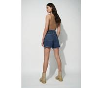 Denim Raw Hem Shorts