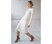 Cut Out Mock Neck Midi Dress
