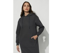 Hoodie Ribbed Hem Midi Dress