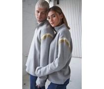 100% Recycled Half Zip Contrast Unisex Sweatshirt