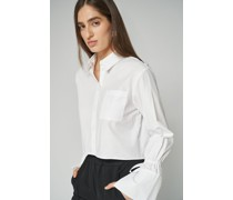 100% Organic Tie Cuff Cropped Shirt
