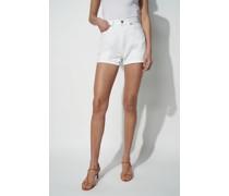 Denim Roll Up Shorts