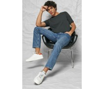 Mid Rise Relaxed Straight Jeans