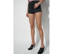 High Rise Raw Hem Denim Shorts