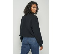 High Neck Cropped Sweatshirt