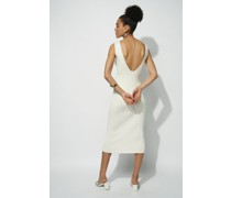 100% Organic Scoop Open Back Knitted Midi Dress