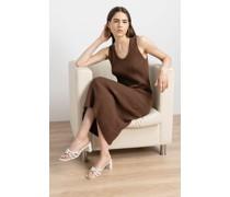 Sleeveless Ribbed Midi Dress