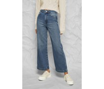 High Rise Wide Leg Ankle Jeans