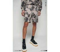 Limited Edition Pollution Print Relaxed Fit Lounge Shorts
