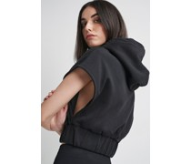 100% Recycled Cropped Open Side Hoodie