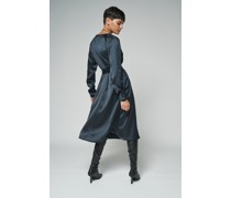 100% Recycled Belted Wrap Midi Dress