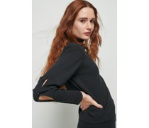 Open Sleeve Turtleneck Sweater
