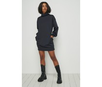 Funnel Neck Sweatshirt Dress