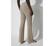 High Waist Wide Leg Knitted Pants