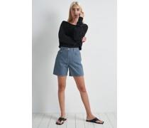 Upcycled Wide Leg Denim Shorts