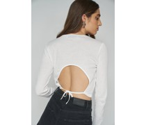Cut-Out Tie Back Rib Top