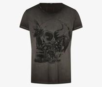 T-Shirt - Skull & Butterflies