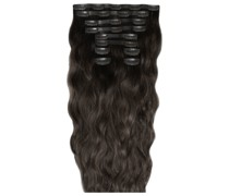 22 Inch Beach Wave Double Hair Extension Set (Various Shades) - Raven