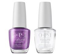 Nature Strong Natural Vegan Nail Polish Duo (Various Colours) - Achieve Grapeness