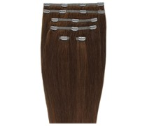 Double Hair Set 18 Inch Clip-In Hair Extensions (Various Shades) - Chocolate 4/6