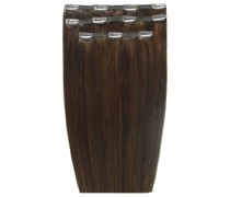 Deluxe Clip-In Hair Extensions 18 Inch (Various Shades) - Chocolate 4/6