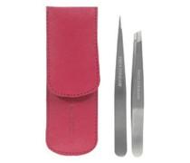 Petite Tweeze Set In Ledertasche - Pink