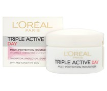 L'Oreal Paris Dermo Expertise Triple Active Day Multi-Protection Moisturiser - Dry / Sensitive Skin (50 ml)