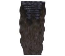 22 Inch Beach Wave Double Hair Extension Set (Various Shades) - Ebony