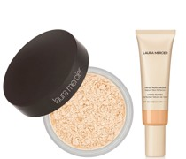 Translucent Loose Setting Powder and Tinted Moisturiser Duo (Various Shades) - Porcelain